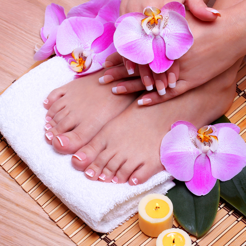 Spa Manicure and Pedicure